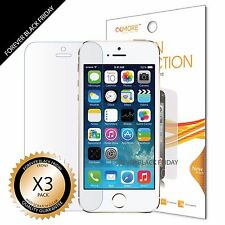 3x Anti-Scratch Clear Front Screen Protector Guard For iPhone 5S / 5 / 5C