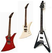 E-Gitarre im Pfeildesign, verschiedene Modelle / Farben, EX100 schwarz,rot,weiß