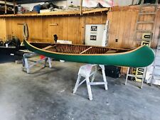 1912 Old Town 17' H.W. Model Wood & Canvas Canoe W/Build Sheet In Excellent Cond