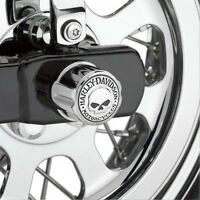 41706-09A Harley-Davidson® Rear Axle Nut Cover Kits - Willie G Skull Collection