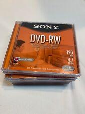 8 SONY DVD - RW    NEW 4.7GB 120 min