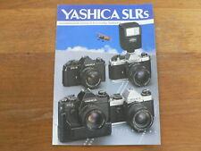 YASHICA SLRS SPIEGELREFLEX CAMERA BROCHURE,PROSPEKT FX-D,FX ZOOM, FX-3, FX-7 ZOO