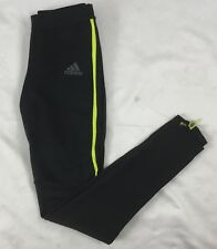 Adidas Men's Climacool Response Long Tight Pants Black Neon Green BP8055 Size S