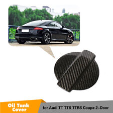 For Audi TT TTS TTRS 2D 15-18 Fuel Filler Door Tank Cover Fuel Cap Carbon Fiber
