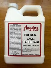 Angelus FLAT WHITE acrylic leather paint in 1 Quart/32 ounces