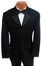 37S Black Halloween Costume Tuxedo Jacket Butler Zombie James Bond 007 Trump