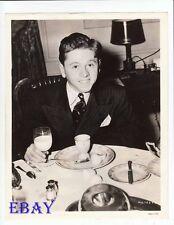 Mickey Rooney eats breakfast VINTAGE Photo candid