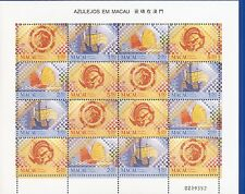 MACAO-CHINA-(PORTUGAL)1998-TILES IN MACAO -M/SHEET- 16 stamps-(4x4)