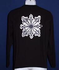 Men's Hugo Boss Long Sleeve Graphic T Shirt Size Small Black with Snowflake