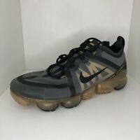 Nike VaporMax 2019 Running Shoes Black Gold AR6631-002 Mens Size 10
