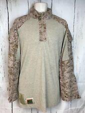 USMC Combat Ensemble Long Sleeve FROG Desert MARPAT Combat Shirt M-L