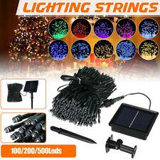 Solar Garland Fairy String Lights 100/200/500 LED Outdoor Garden Christmas Party