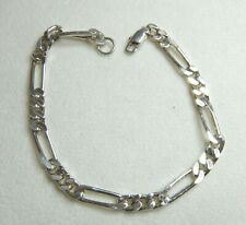 VINTAGE BRACELET - STERLING SILVER FANCY LINKED CHAIN -      SN488
