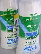 SMART Mouth Original Activated Mouthwash 16oz each (2pk bundle) exp 2023