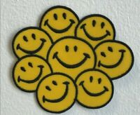 Happy Face Smiley Rainbow Emoji Embroidered Iron Sew on Patch j1548