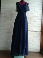 WAYNE COOPER navy blue formal full length cocktail Dress Size 10