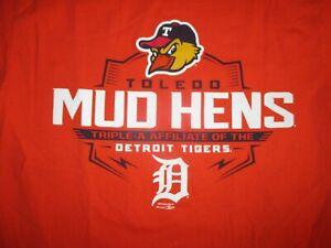 TOLEDO MUD HENS T SHIRT Detroit Tigers Minor League Baseball Muddy Masco Adult M