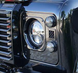 Land Rover Defender Santorini Black Mesh Vent Headlight Surrounds - Uproar 4x4