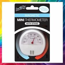 HANDY MINI SMALL ROUND MAGNETIC PORTABLE THERMOMETER ROOM, FRIDGE, CAMPING, TOUR