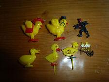 Anciens sujets / figurines de décoration, canard, poussin