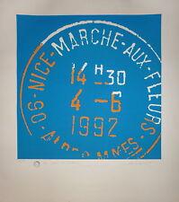 Michel Cabaret sérigraphie originale signée numérotée art abstrait pop art
