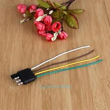 4 Pole Pin US Standard Truck Flat Wiring Harness Kit Side Only Trailer Plug New