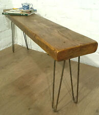 4ft Hairpin Legs Solid Rustic Vintage Reclaimed Pine Dining Table Seating BENCH