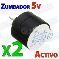 Mini Zumbador Activo 2KHz 3,3v 5v DC 12mm Buzzer - Lote 2 unidades - Arduino Ele