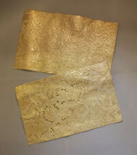 Leather Pieces - Gold Snake Print - 5 1/2 x 8 1/2 - 2 Pieces (E133)