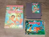The Jungle Book w/Manual & Case Nintendo Nes Cleaned & Tested Authentic