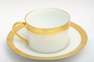 Raynaud AMBASSADOR GOLD Encrusted Coffee Cup & Saucer Set Vintage China