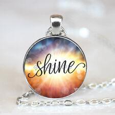 Shine, necklace photo Glass Dome Tibet silver Chain Pendant Necklace,Wholesale