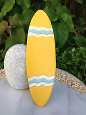 Miniature Dollhouse FAIRY GARDEN ~ Yellow Resin BEACH Surfboard SEA ~ NEW