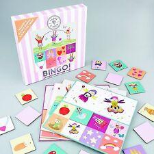 Floss & Rock Bingo Fun Picture Matching Game Pink Stripe Educational Girl Gift