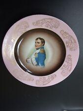 Antique Napoleon  Portrait  French Porcelain  Wall  Plate C1900's