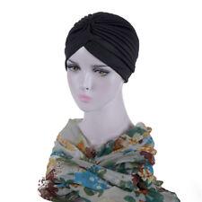 Indian Cap Muslim Turban Headband Hat Stretchable Chemo Pleated Hijab Headwrap