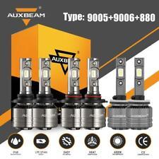 6X AUXBEAM 9005 9006 880 LED Headlight Fog Bulb Decoder for GMC Envoy XL 2002-06