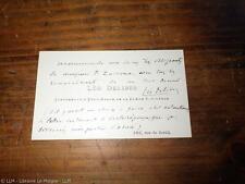 1870.Carte de visite à Pierre Zaccone avec mot autographe..Léo Delibes
