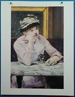 "Edouard Manet ""The Plum"" Lithograph Print 50 French Impressionist Masterpieces"