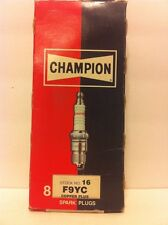 Champion F9YC box of 8 Spark Plugs Stock No. 16 New Old Stock