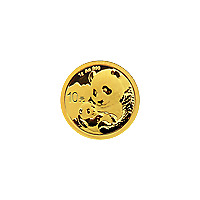 Lot of 10 x 1 gram 2019 Chinese Panda Gold Coin