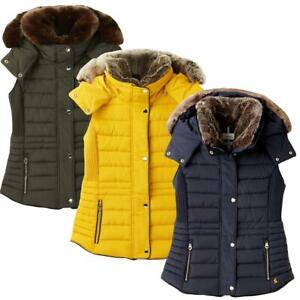 Joules Ladies Melford Padded Gilet Waistcoat Bodywarmer Yellow Green Blue