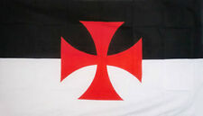 KNIGHTS TEMPLAR CRUSADES FLAG 5' x 3' Medieval Christian Crusaders Christianity