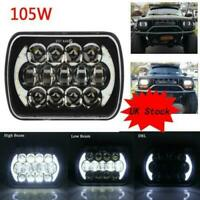 2X 105W 5x7'' 7x6'' LED Headlight Hi-Lo Beam Halo DRL For Jeep Cherokee XJ YJ UK