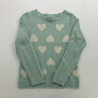 Womens Sweater Hearts Lauren Conrad Teal M Medium