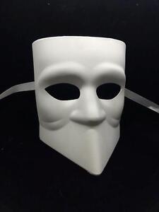 Unpainted Blank Masquerade Mask Halloween Venetian Cosplay Costume Party DIY