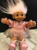 "Ballerina Troll Doll NWT Tu Tu TUTU by RUSS Pink Ballet Shoes 7"" Body"