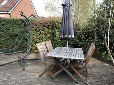 wooden garden table and chairs used