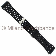14mm Speidel Holes Black Rubber Sports Fits Casio Ladies Watch Band 862
