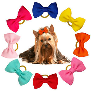 50/100pcs Hair Bows for Dogs Cute Grooming Accessories Mixed Colors Stripe Style